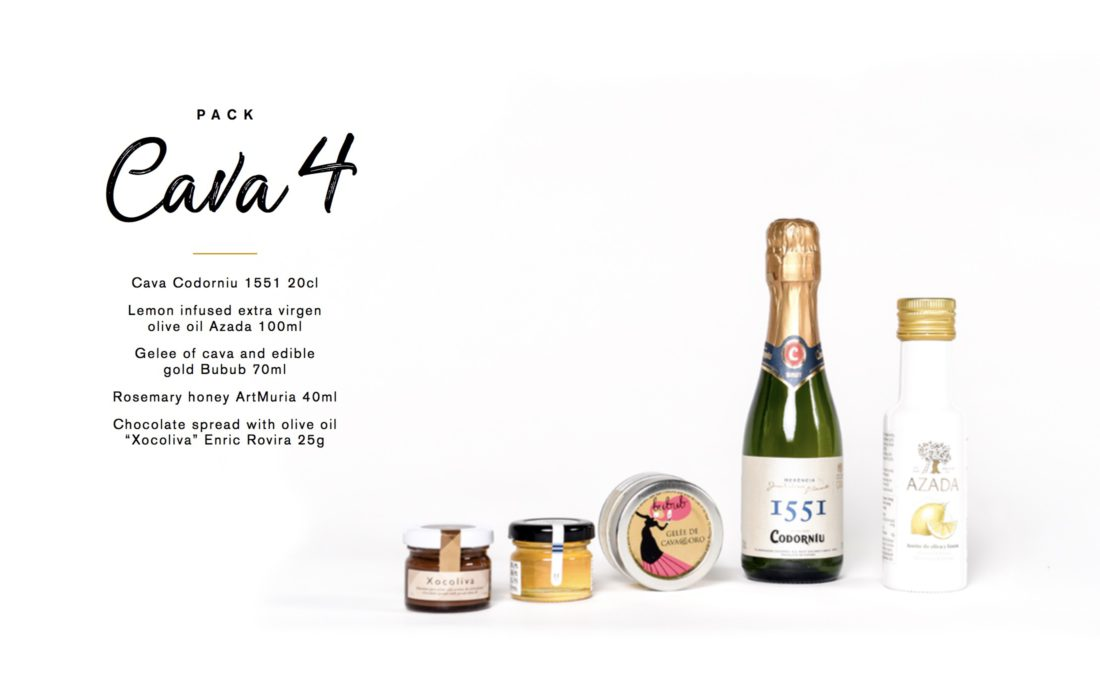Corporate gift Codorniu cava olive oil