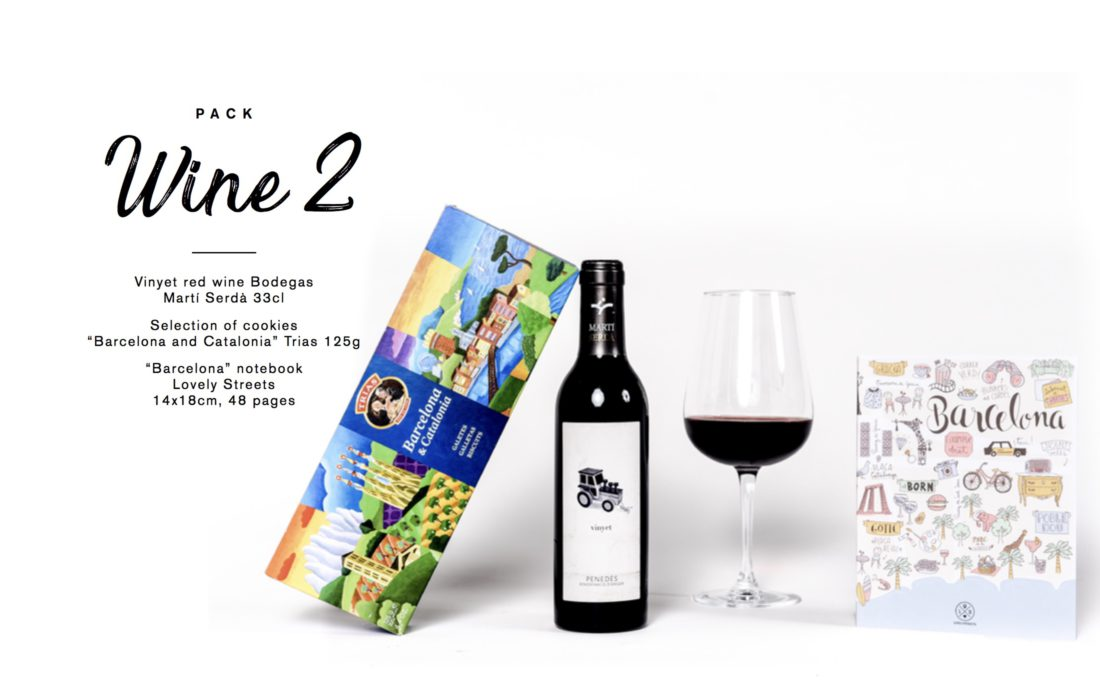 Barcelona welcome gift wine gourmet