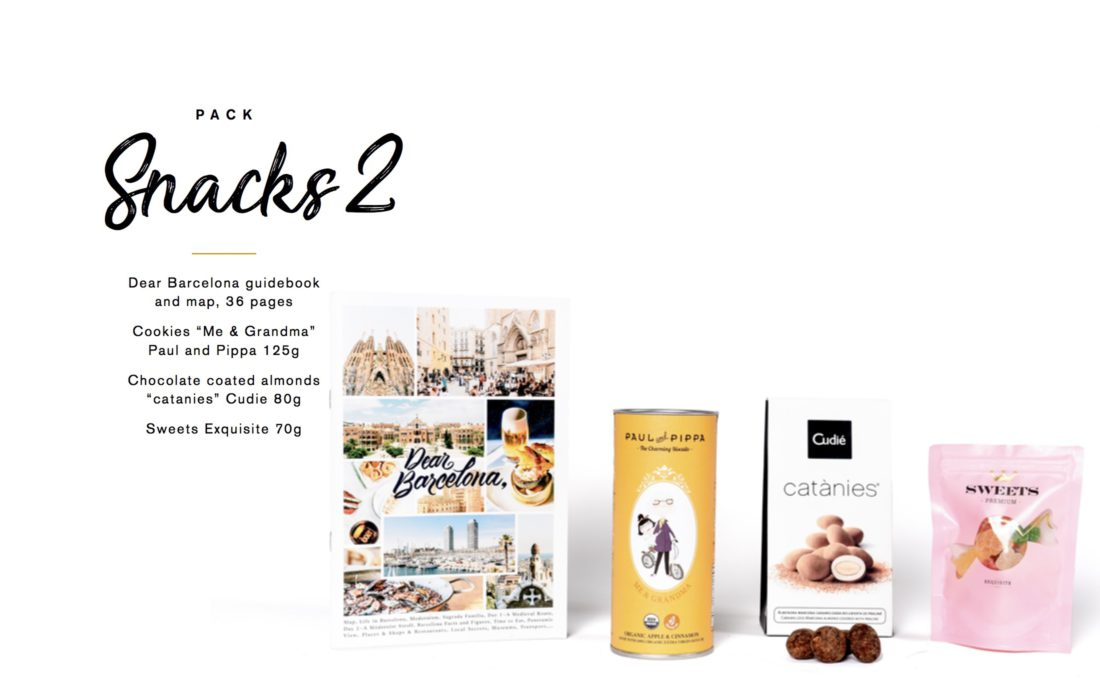 Barcelona Guidebook Catanies sweets welcome gift
